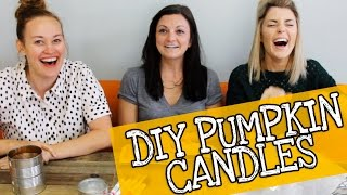 THE EASIEST DIY CANDLES with JOSELYN AND MAMRIE// Grace Helbig