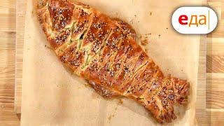 Слоёный пирог с рыбой и картошкой Выпечка для чайников