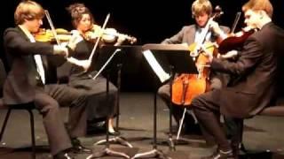 Aeolus Quartet performs Bartok Quartet No. 5 V. Finale - Allegro Vivace