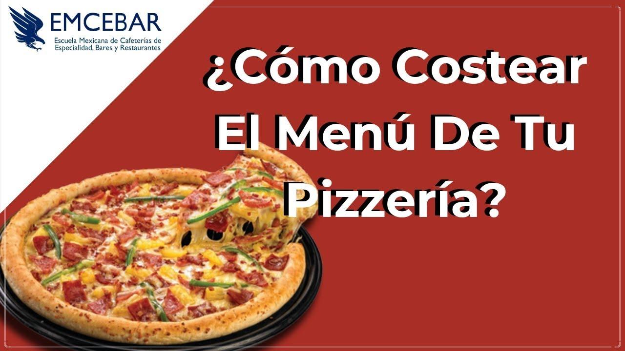 f987e0f456 Cómo Costear El Menú De Tu Pizzería  - YouTube