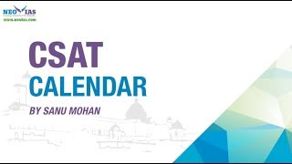 Calendar | How to Solve UPSC Questions ? | CSAT | NEO IAS