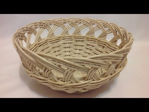 #1170 Мастер-класс от Нины Корзинка с ажурным краем Woven Basket With Lace Top ENGLISH SUBTITELS