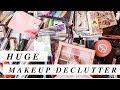 HUGE Makeup Declutter | 500+ Items Down To 47