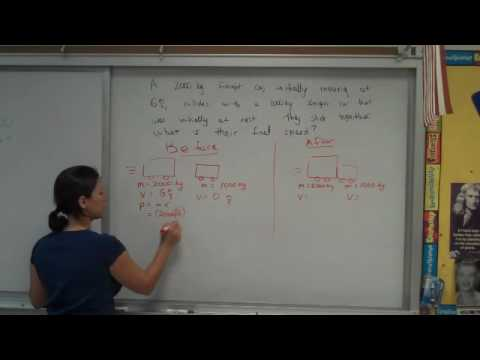 freight car collision problem--momentum conservations