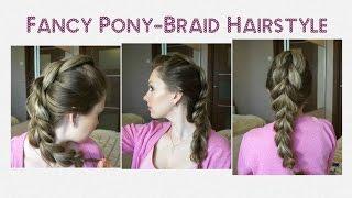 Объемная коса с резинками на День Святого Валентина ♥ Fancy Pony-Braid Hairstyle