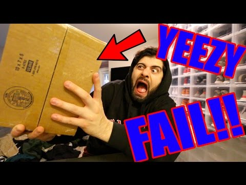 UNBOXING THE NEW YEEZYS FAIL!! (I GOT THE WRONG ONES)