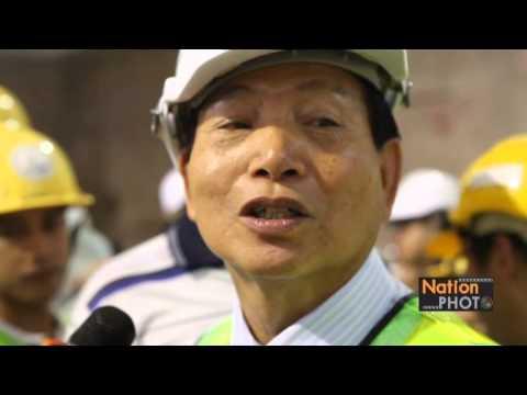 บริษัท ช.การช่างพาสื่อมวลชนเยี่ยมชมการก่อสร้างสถานีรถไฟฟ้าสายสีน้ำเงิน