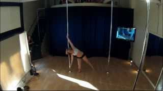Jennifer B WINNER of the Beginner Category at 2014 Epic Pole Competition and Showcase