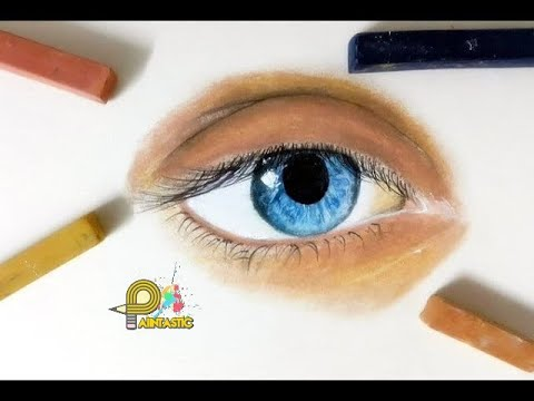 طريقة رسم عين بالسوفت باستل Aye Drawing With The Soft Pastel
