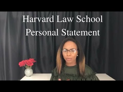 How I got into Harvard Law School -- The Personal Statement