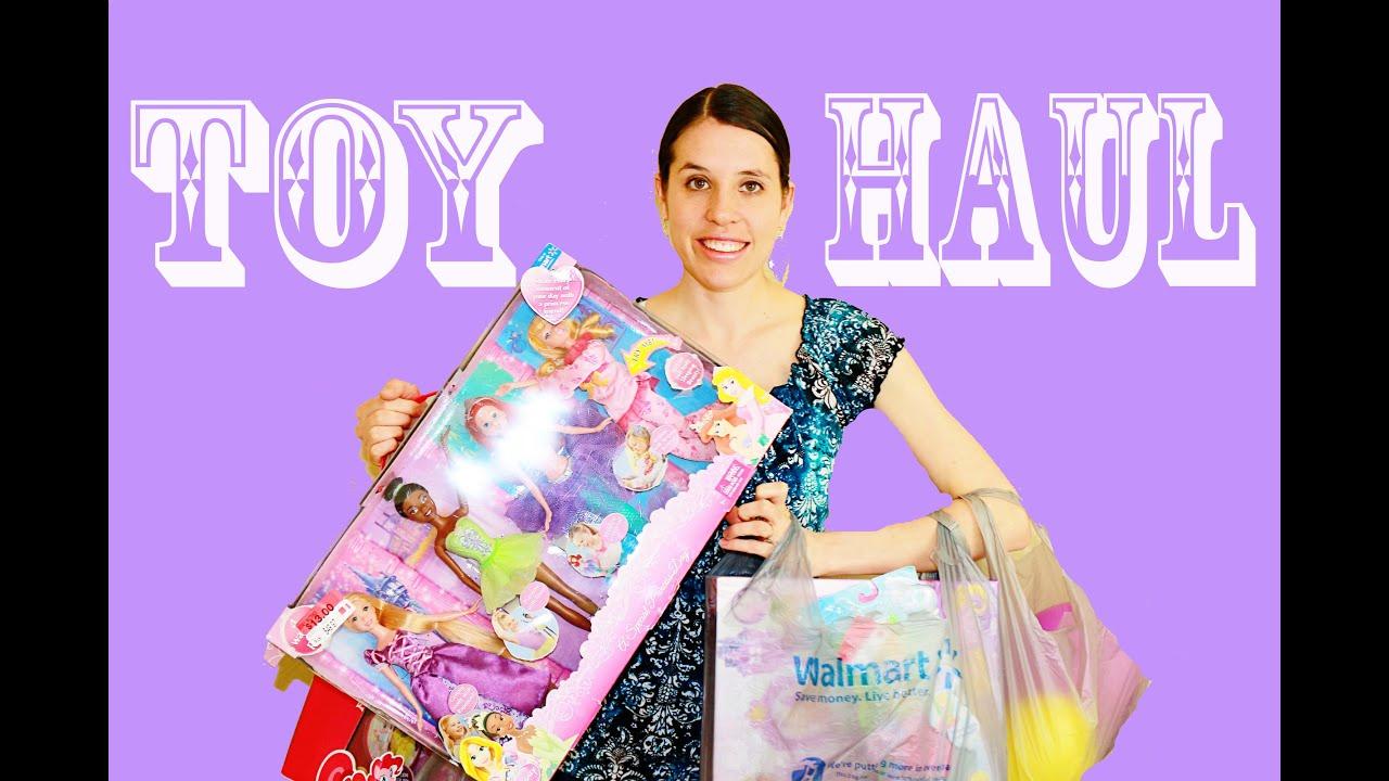 Walmart Toys Just For Girls : Toy haul walmart disney princess barbie rapunzel ariel