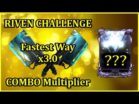 Warframe | HOW TO Sustain a x3 Melee COMBO Multiplier for 30sec RIVEN CHALLENGE (Guide)