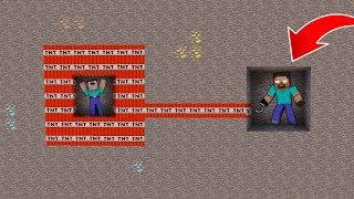NOOB VS HEROBRİNE #3 - Tnt Patlaması (Minecraft)