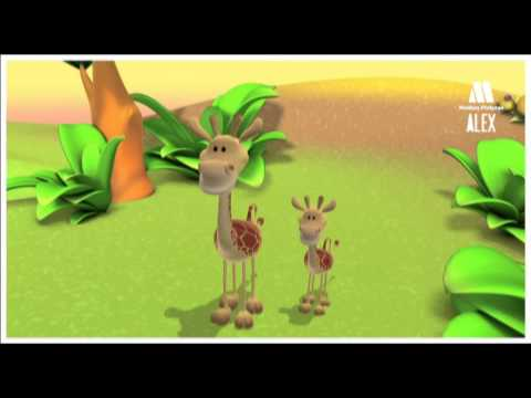 Thumbnail: THE GIRAFFE Kids learn about animals with educational cartoons. Children, toddlers, tots videos