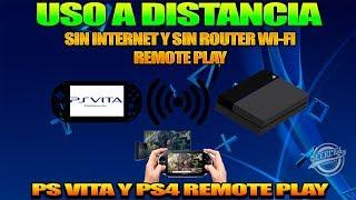 Conectar Ps Vita A Ps 4 directamente sin router y Sin internet 2018 - Remote play - Uso A distancia-