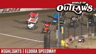 World of Outlaws Craftsman Sprint Cars Eldora Speedway July 12, 2018 | HIGHLIGHTS