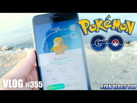 Playing Pokémon GO on the Lake!