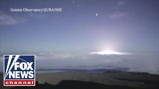 Time-lapse video shows Kilauea volcanic eruption