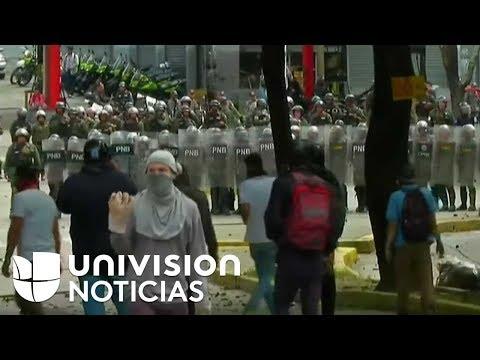 Policía Nacional Bolivariana reprime manifestación estudiantil en Caracas
