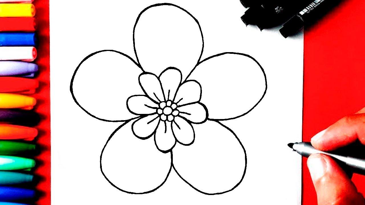 Como Desenhar Uma Flor Muito Facil Youtube
