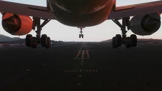 Airbus A350-900 [Landing Gear View] Approaching Penang [X-Plane 11]