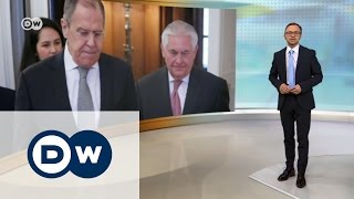 Тиллерсон и Лавров  есть ли надежда на диалог РФ и США? – DW Новости (12 04 2017)