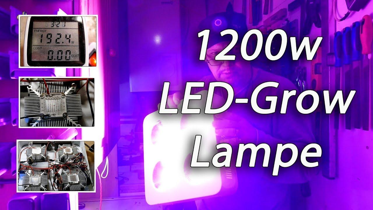 1200w led grow lampe youtube. Black Bedroom Furniture Sets. Home Design Ideas