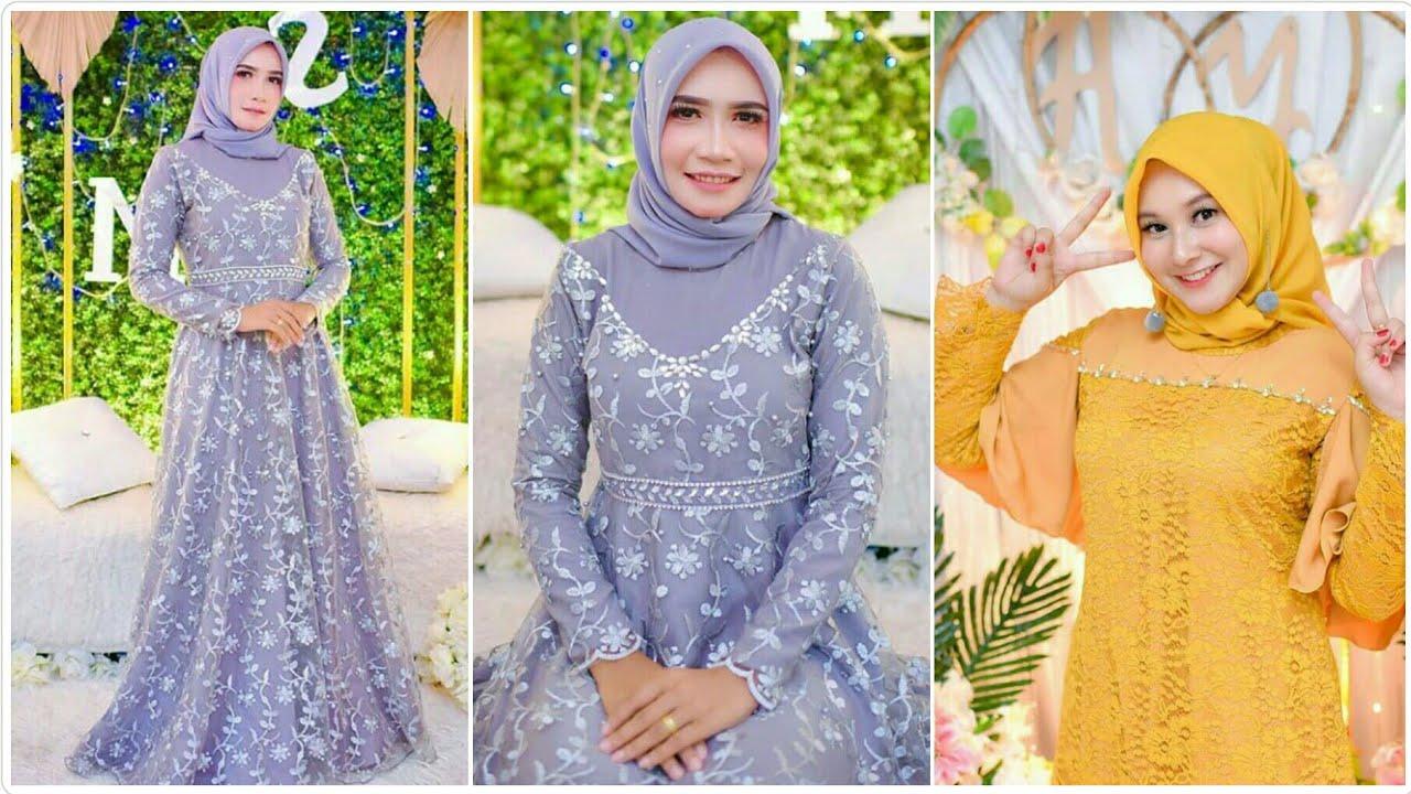 Model Baju Gamis Simple Elegan Dan Modern Buat Pesta Pernikahan Atau Kondangan Youtube