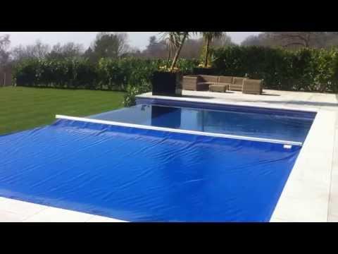 Aquamatic Swimming Pool Cover Infinity Edge