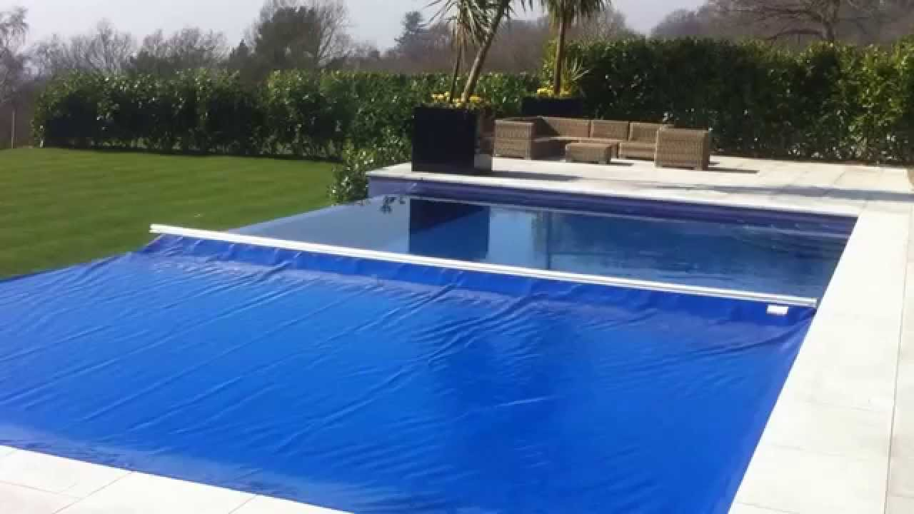 Aquamatic Swimming Pool Cover Infinity Edge Youtube