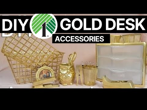 diy affordable amp easy gold desk accessories whiskey