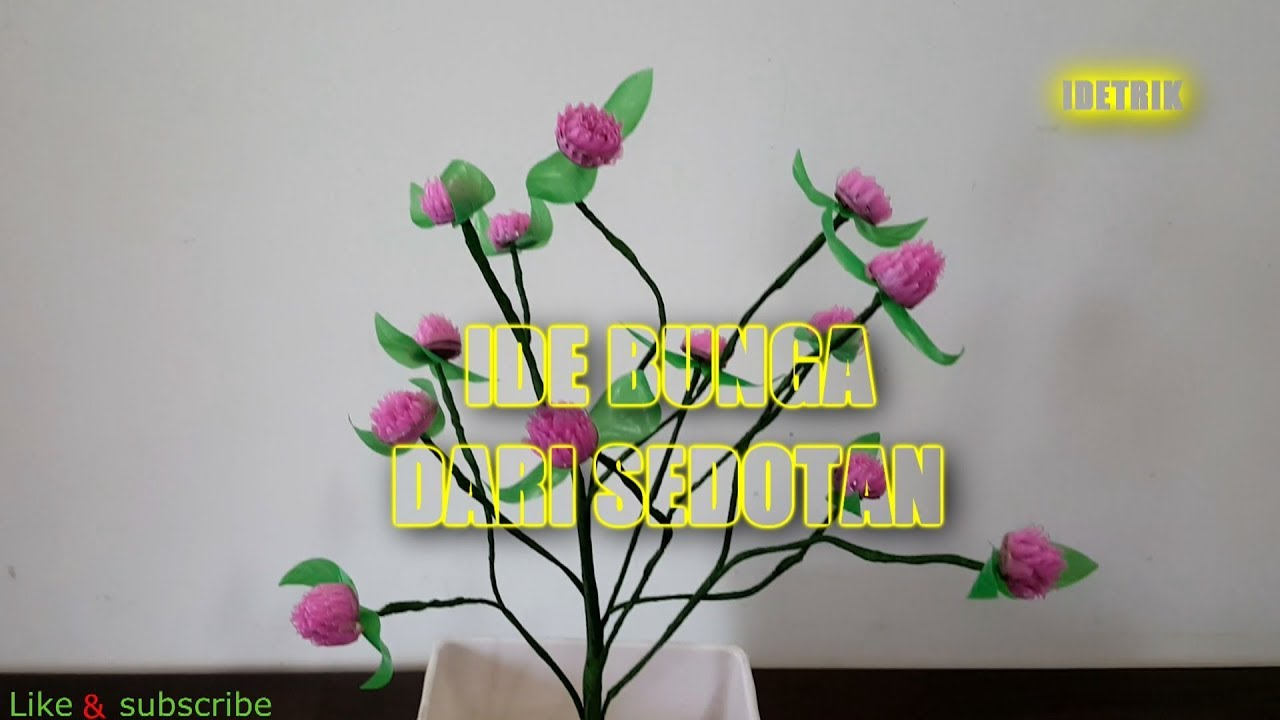 Ide Kerajinan Tangan Dari Sedotan Berbentuk Bunga Ide Kreatif