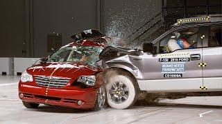 IIHS red-light-running crash recreation