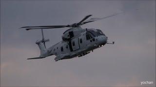 AgustaWestland AW101(Kawasaki MCH-101)AMCM and transport Helicopter 館山・帰投