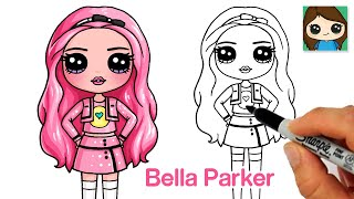 How to Draw Rainbow High Fashion Doll  Bella