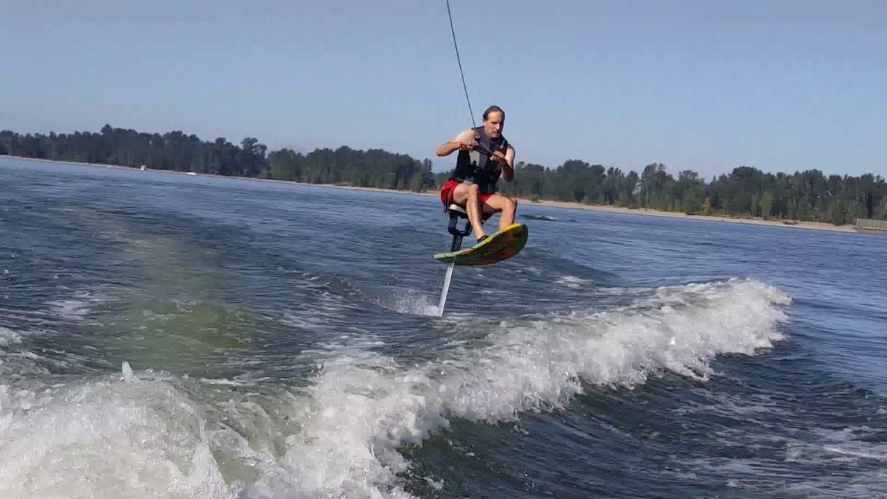 Dad busts out the Old Air Chair Hydrofoil & Dad busts out the Old Air Chair Hydrofoil - YouTube