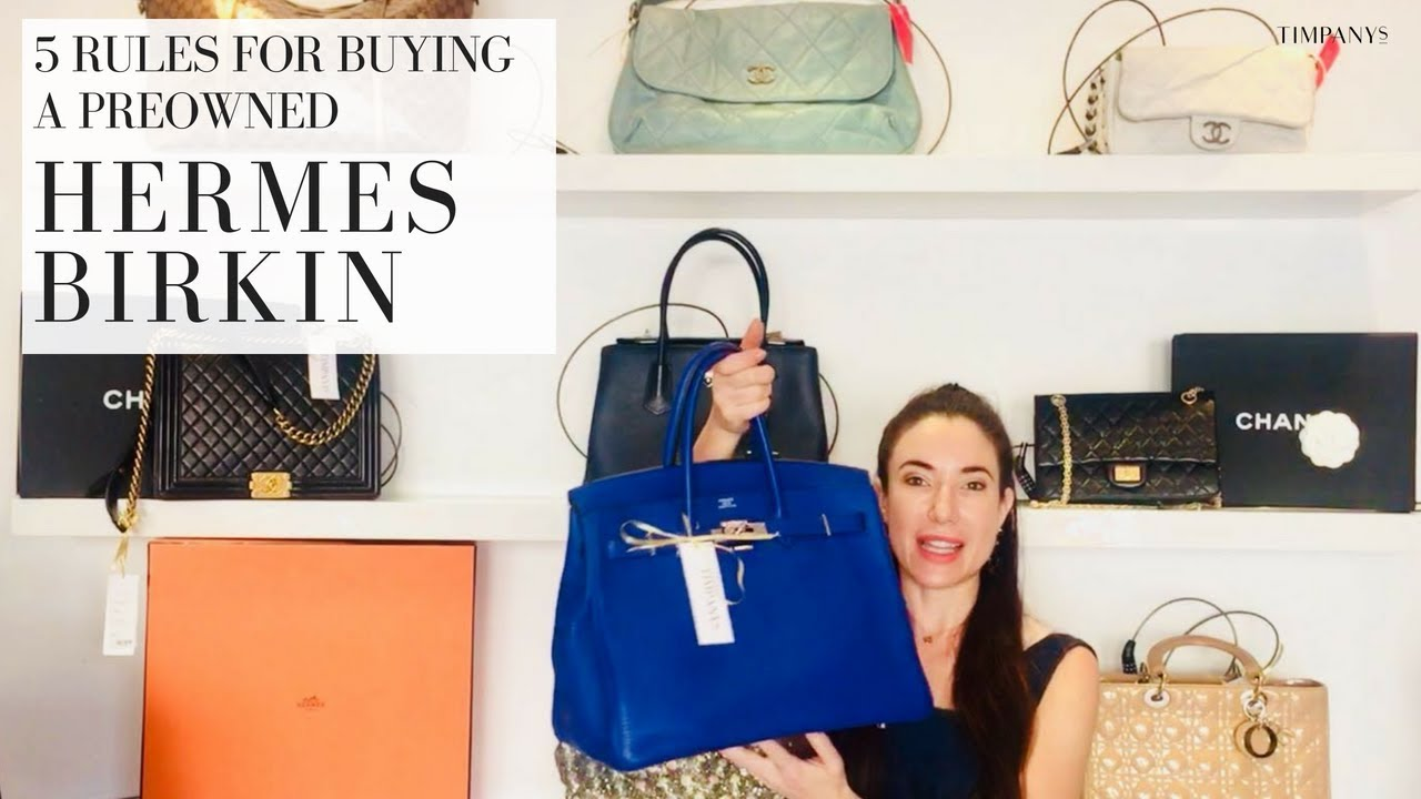 THE HERMES BIRKIN  5 Rules to buy by - YouTube 8f5c110e493bc