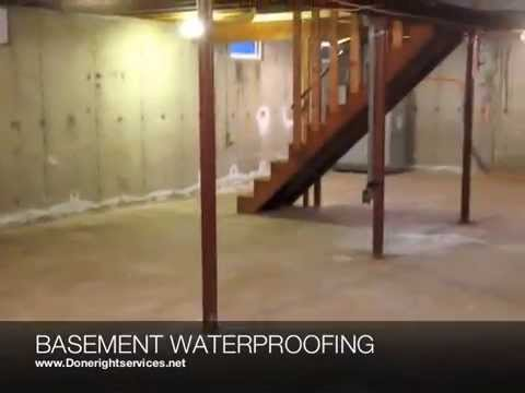 Done Right Services Basement Waterproofing Concrete