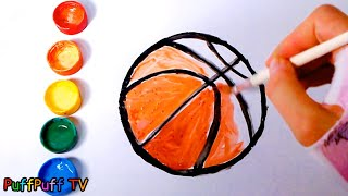 Basketball Sports Balls Coloring Pages for Kids