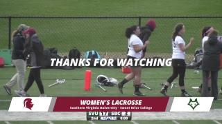 SVU Women's Lacrosse vs Sweet Briar College