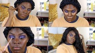 Dramatic Purple EyeShadow Using Morphe 35V   Full Beat Face