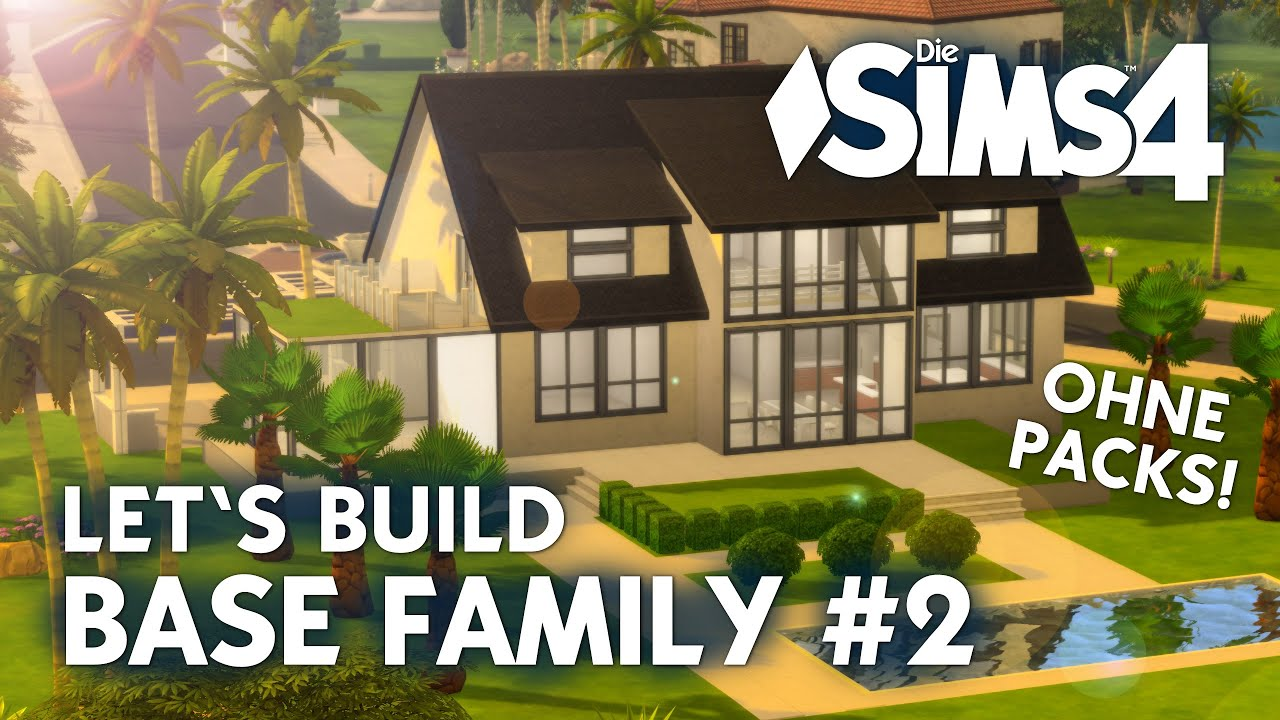 Die sims 4 haus bauen ohne packs base family 2 for Modernes haus sims 4