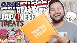 American REACTS // Japanese Candy! (TokyoTreat Unboxing)