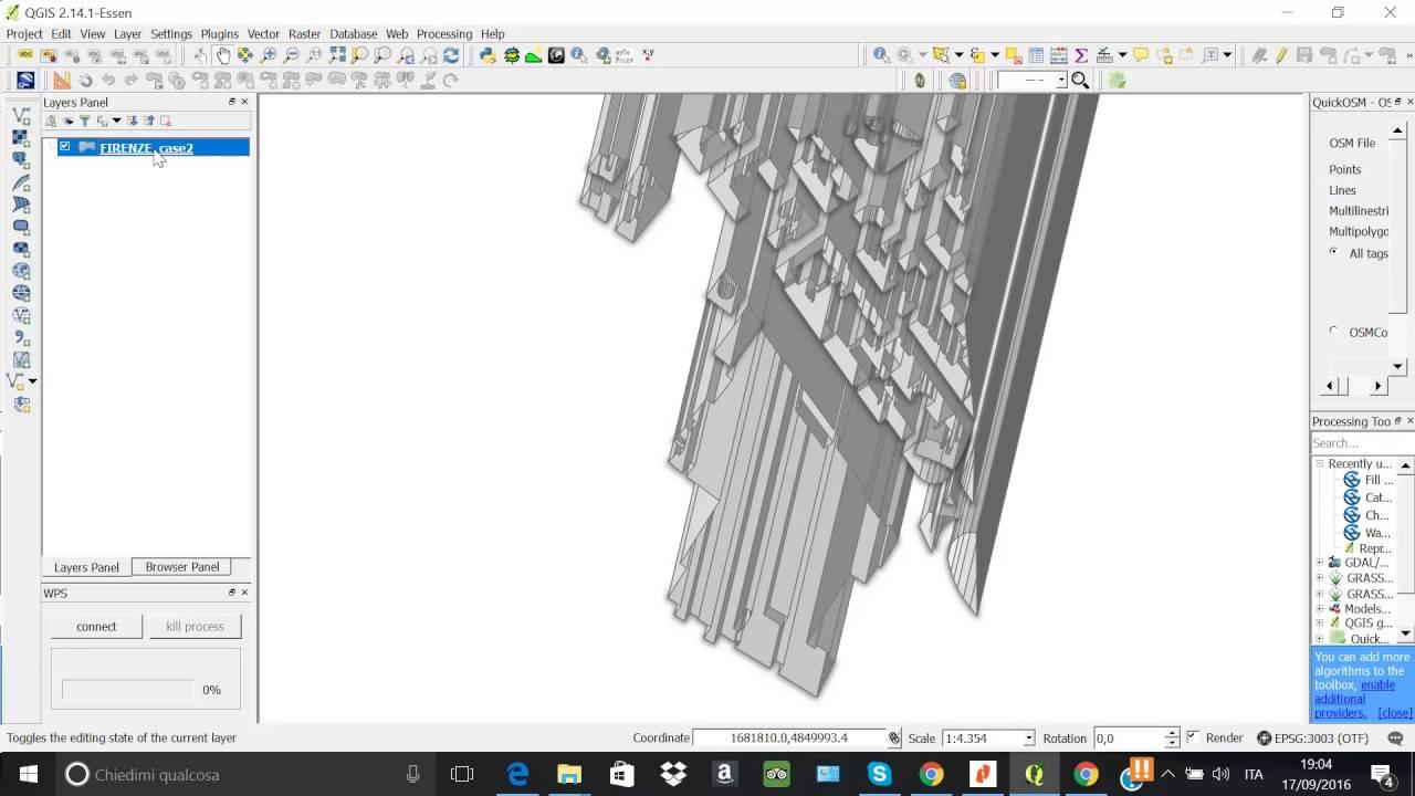 STILE 2,5D (visione in prospettiva di poligoni) quasi 3D in Qgis