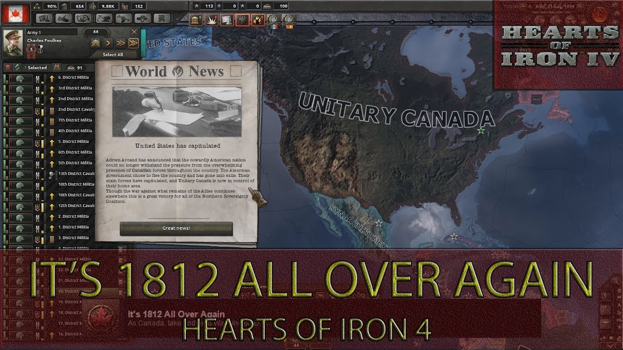 Hearts Of Iron 4 - it's 1812 All Over Again Achievement