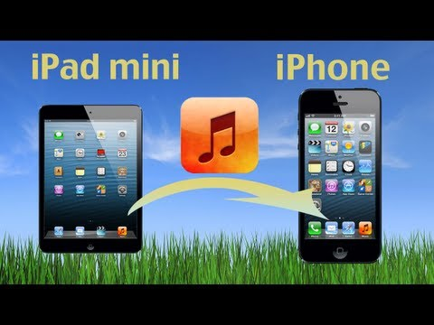 How to transfer music from iPad to iPhone? How to Copy music from iPad Mini to iPhone 5S/5C/5?