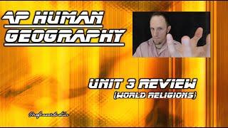 APHG- Unit 3- RELIGION Exam Review (2015-2016)