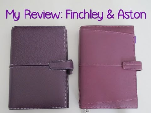 My Review: Comparing the Finchley & Aston Filofax Personal Organisers