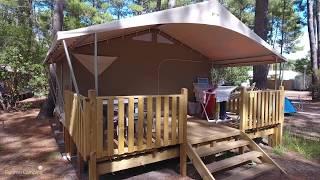 Location d'un lodge toilé avec ou sans sanitaires avec les campings Campéole