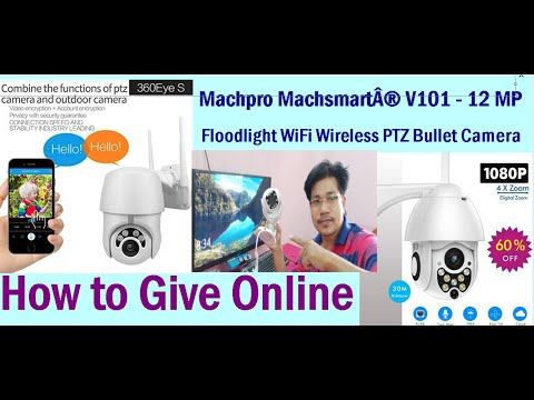 Wireless Night vision surveillance home security camera unboxing and installation at home  